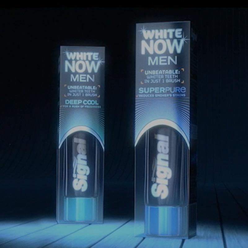 Gamma prodotti per sbiancare i denti Mentadent White Now Men