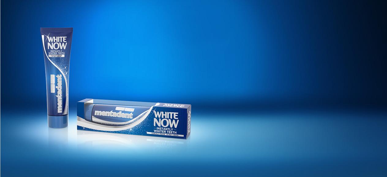 Dentifricio Mentadent White Now per denti bianchi