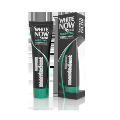 Dentifricio Mentadent White Now Men Deep Cool prodotto per sbiancare i denti