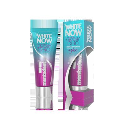 prodotto per sbiancare i denti Dentifricio Mentadent White Now Glossy Chic